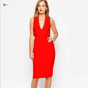 ASOS Splice Shoulder Drape Front Dress